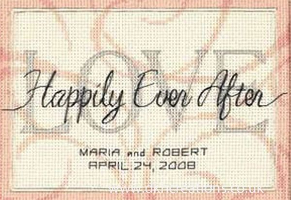 Happily Ever After Wedding Record Cross Stitch Kit